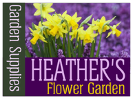 Yard Sign Template for Heather's Flower Garden