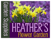 Yard Sign Template for Heather's Flower Garden
