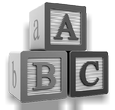 Designing Signs is Easy as ABC - childrens' blocks