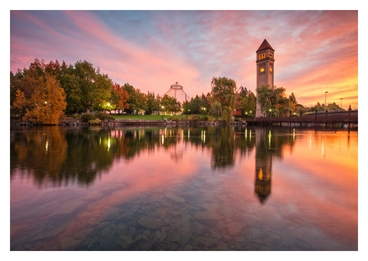 Photo of Riverfront Park in Spokane, low cost signs and banners for events.