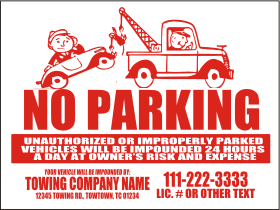 480 1c Parking Red Warning Magnet Sign Template