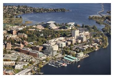 Photo of University of Washington Seatle Campus Aerial View and Husky Stadium